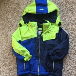 3t boys blue and green  winter coat.